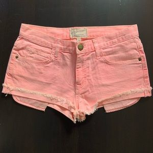 Current Elliot Pink Denim Shorts